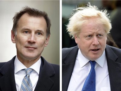Boris Johnson a Jeremy Hunt