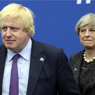 Boris Johnson a Theresa Mayová