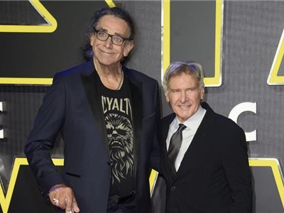 Peter Mayhew (vľavo) a Harrison Ford