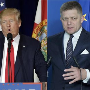 Róbert Fico a Donald Trump