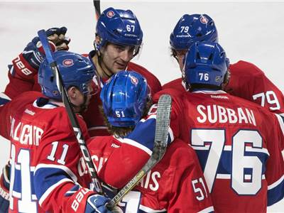 Max Pacioretty (67) , Brendan Gallagher (11), David Desharnais (51), PK Subban (76)