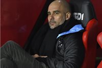 Tréner Manchestru City Pep Guardiola
