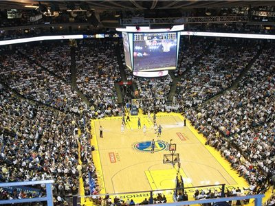 Oracle Arena, domáca hala Golden State Warriors, Oaklamd, Kalifornia, USA