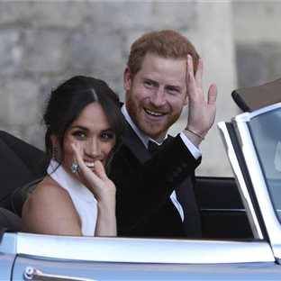 Britský princ Harry a jeho manželka Meghan