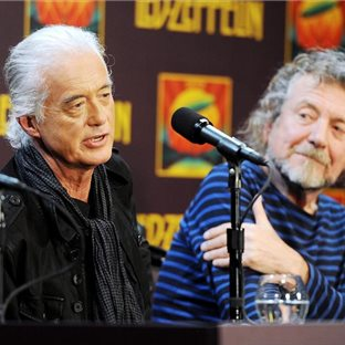 Jimmy Page a Robert Plant