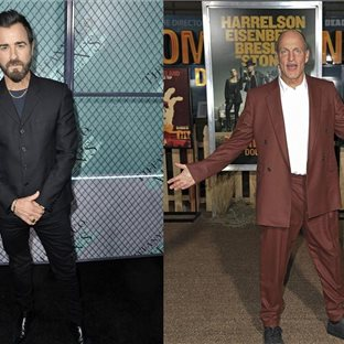 Americkí herci Justin Theroux a Woody Harrelson