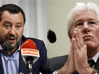 Matteo Salvini, Richard Gere